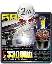 SCOPE EYE L3300 LEDフォグキットカラー:プレミアムホワイト6700K・スカッシュイエロー3300K