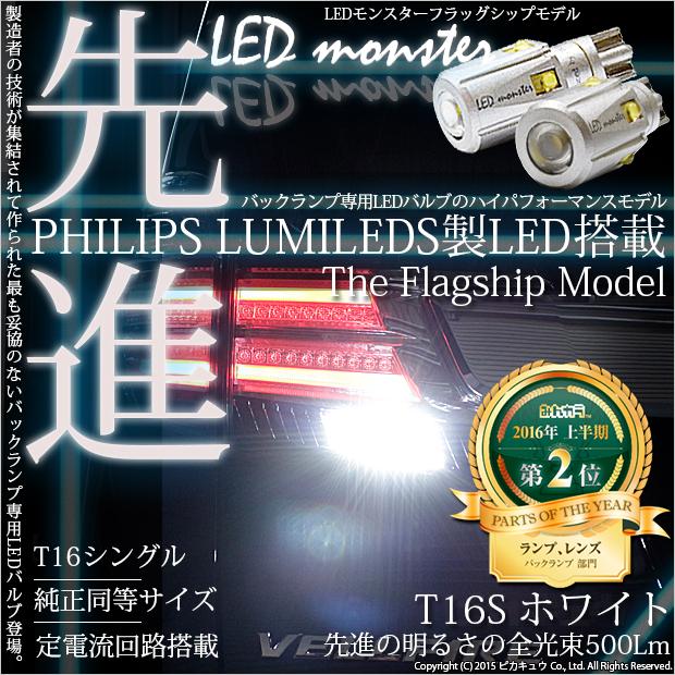 T16��LED MONSTER 500LM �����å������ CREE XB-D��� LED���顼���ۥ磻�ȡ�������6500K