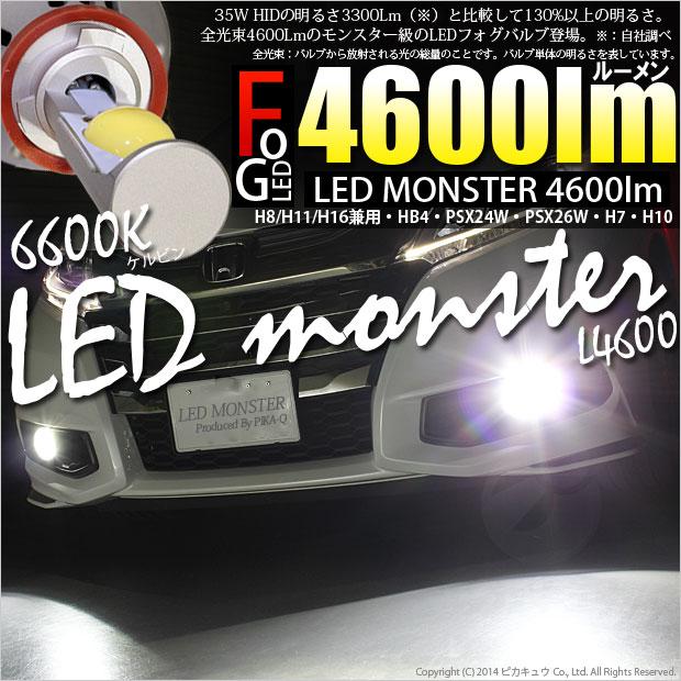 LED MONSTER L4600 LED�ե������ץ��å� LED���顼���ۥ磻��6600K