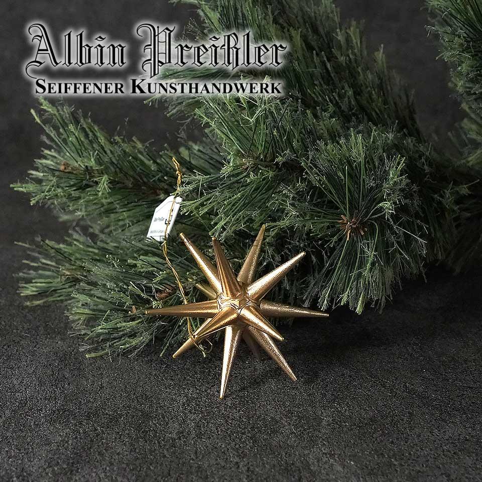Albin Preissler【正規品】ベツレヘムの星 木製ポインセチアゴールドSサイズ