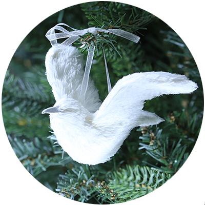 白い小鳥 ハンドメイド
